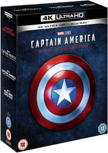 Captain America 4k Trilogy £33.14 Amazon