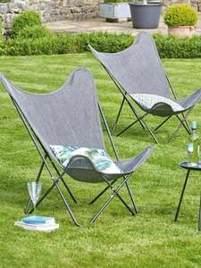 Butterfly Chair Bistro Set, 2 Chairs & Table Garden Furniture Outdoor Set £74.98 From Studio