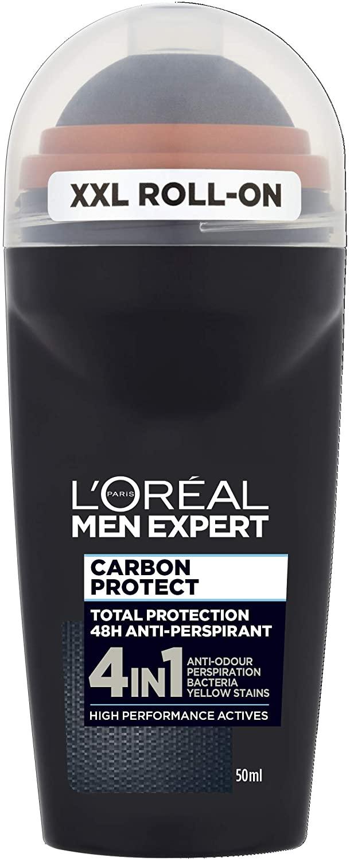L'Oreal Paris Men Expert Carbon Protect 48H Anti-Perspirant Roll-On Deodorant 50ml - £1.29 Prime £5.78 Non Prime @ Amazon