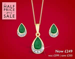 Up to 50% off Jewellery & Watch Sale + Extra 15% off automatically applied at checkout + free delivery on all orders From Ernest Jones