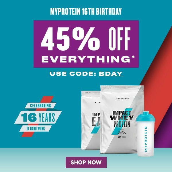 45% off everything using code @ Myprotein