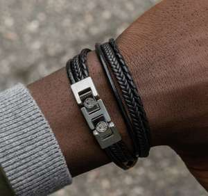 FREE BLACK & BLACK LEATHER BRACELET (WORTH £35) WITH £50 SPEND @ Trendhim