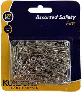 Korbond 100 Safety Assorted Sizes (5cm, 3.5cm & 2.5cm) £3.76 at Amazon (+ £4.49 NP)
