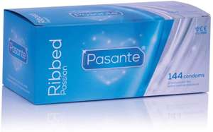 Pasante Ribbed Passion Condoms 144 pack - £9.99 Delivered @ Amazon / Sold by Pasante - UK.