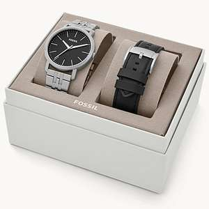 Luther 3H Three-Hand Interchangeable Strap Watch Gift Set now £45.50 delivered @ Fossil