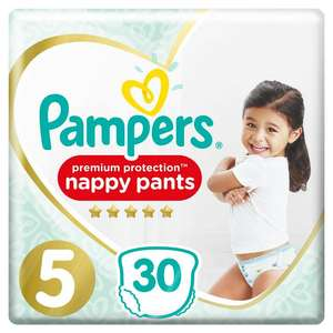 Pampers nappies - £9 each or 6 packs for £30 (online only) + free delivery @ Boots