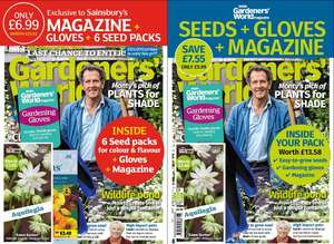 £16 worth of Seeds + £4 Gardening Gloves With BBC Gardeners' World £6.99 Magazine @ Sainsbury's (Online and InStore)