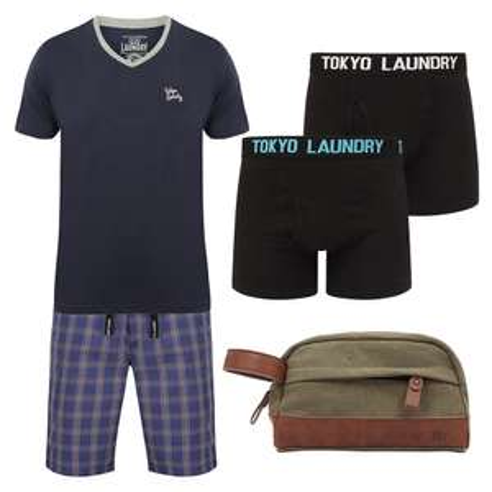 Men's Loungewear Set + 2 Pack Underwear + Wash Bag for £18 / £19.99 delivered @ Tokyo Laundry