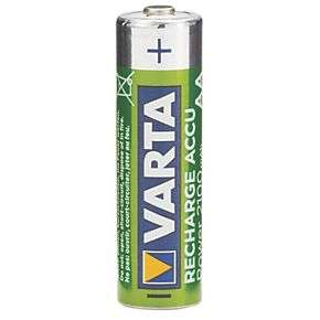 Screwfix: Varta Ready2Use Rechargeable AA Batteries 4 Pack 2100mAH £4.99 + £5 del at Screwfix