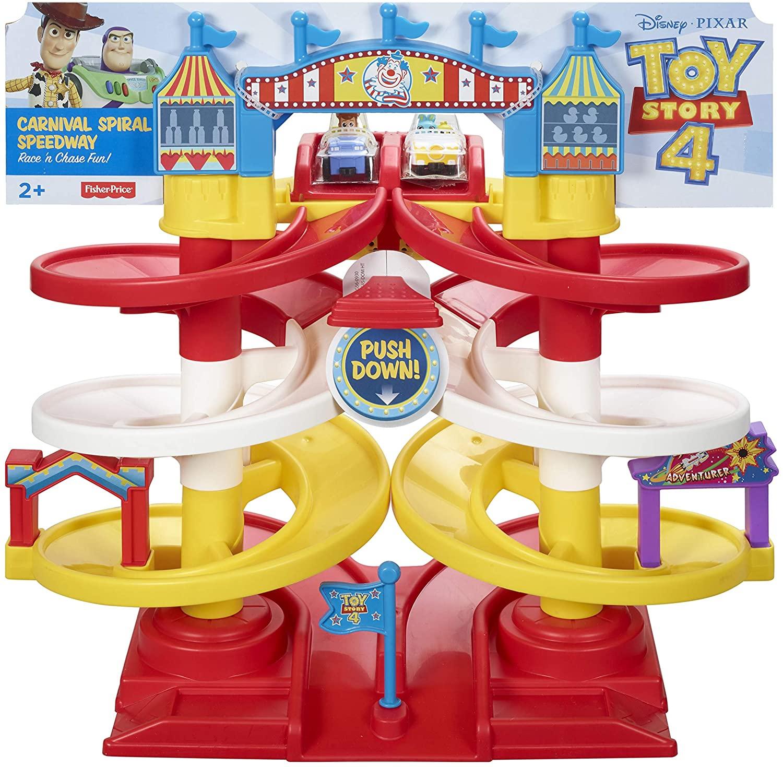 Fisher-Price Disney Pixar Toy Story 4 Carnival Spiral Speedway Playset @ Amazon