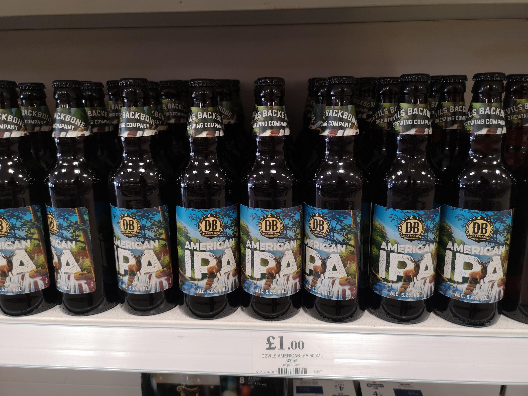 Devil's Backbone IPA £1 in Home Bargains Hoylake discount offer