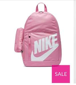Nike Elemental Backpack Now £8 pink or red@ Very (£3.99 Delivery)