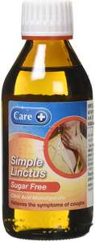 Care 200ml Sugar Free Simple Linctus £2.19 at Amazon (+ £4.49 NP)