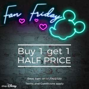 Fan Friday - Buy one, get one Half Price on selected items @ Shop Disney (+£3.95 delivery / Free on £50 spend)