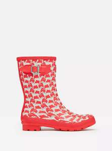 Joules Womens Molly Mid Height Wellies - RED DALMATIAN £13.95 delivered at Joules Ebay Outlet