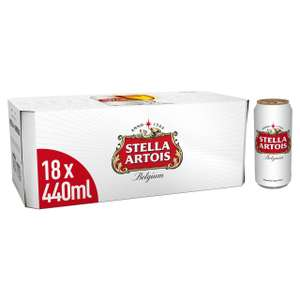 Stella Artois Premium Lager Beer Cans 18 x 440ml £14 at Morrisons