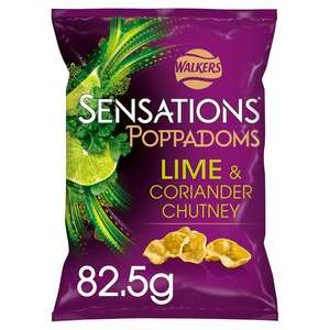 Walkers lime and coriander chutney poppadoms 82.5g bags - 2 for £1 @ Lidl (Walsall)