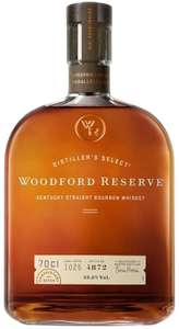 Woodford Reserve Bourbon Whiskey, 70 cl £25 @ Amazon