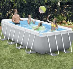 "Intex 13ft 1.5"" (4m) Rectangular Prism Frame Swimming Pool with Filter Pump and Ladder £369.99 @ Costco"