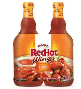 Family size. Frank's red hot buffalo wings sauce (2 X 680ml) £3.99 instore @ Costco