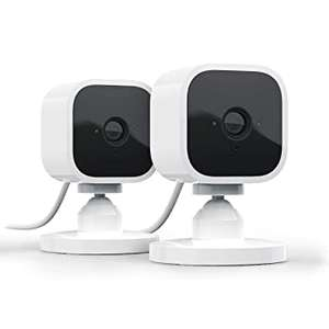Blink Mini Compact indoor plug-in smart security camera, 1080p HD video, motion detection, Works with Alexa 2 Cameras £64.99 @ Amazon