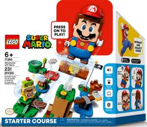 LEGO Super Mario 71360 Adventure Starter Kit with Mushroom Expansion £44.99 with code @ The Entertainer