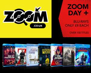 Over 150 Blu-Ray's £4 each del. e.g Gladiator: 15th Ann. Ed / Star Trek 2 : The Wrath of Khan / Get Out / Ferris Bueller's Day Off @ Zoom