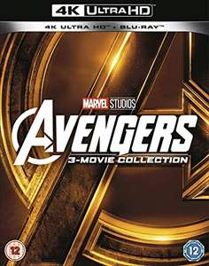 Avengers: 3-movie Collection (4K with Blu-ray) [UHD] £32.99 Delivered @ Amazon