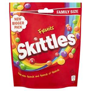 Skittles Fruits Sweets Family Size Pouch 196g instore / online £1.00 @ Sainsburys.co.uk