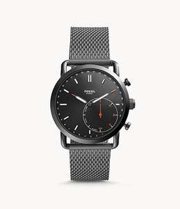 Hybrid Smartwatch Commuter Smoke Stainless Steel at Fossil for £62.30 (using code) @ Fossil