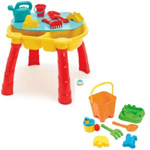 Out and About Sand and Water Play Table + Beach Bucket Set Bundle for £20.23 delivered @ TheToyShop.com (The Entertainer)