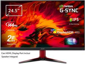 """Acer Nitro VG252QPbmiipx Full HD Gaming Monitor G-Sync - 24.5"""" - IPS Panel - 144 Hz - HDR 400 - £218.27 Delivered @ Amazon Italy"""
