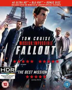 Various 4K Ultra HD from £7.99 + £2 Postage @ HMV - Includes Mission Impossible: Fallout