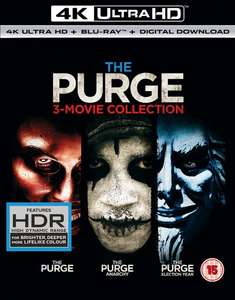 The Purge: 3-movie Collection (4K Ultra HD + Blu-ray + Digital Download) £19.99 / £21.98 delivered @ zoom