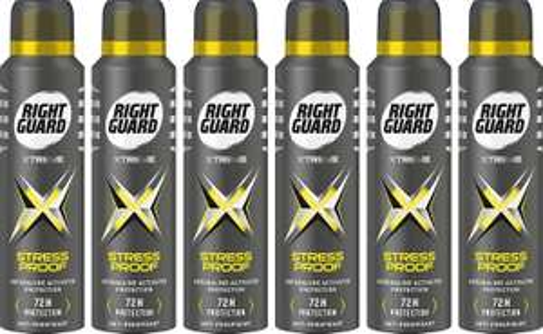Right Guard Mens Deodorant, Xtreme Stress 6 x 150ML £6 @ Amazon (+£4.49 non-prime)