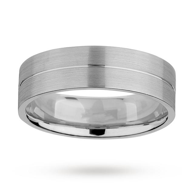 6mm Gents Wedding Ring In 950 Palladium £532 @ Goldsmiths