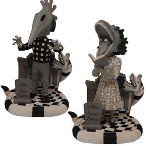 """FOCO Beetlejuice 8"""" Bobblehead Figures - Adam or Barbara [Limited Edition 400pcs] - £19.99 Each + Free Delivery Using Code @ Zavvi"""