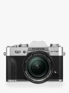 Fujifilm X-T30 & XF18-55mm £899 includes £100 John Lewis Gift Voucher at John Lewis & Partners