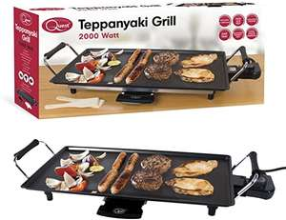 Quest 35490 Large Teppanyaki Grill Electric, 2000 W, Black £27.18 at Amazon