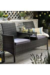 Rattan-Effect Tete-A-Tete Love Seat £99.99 + £4.99 Shipping From Studio
