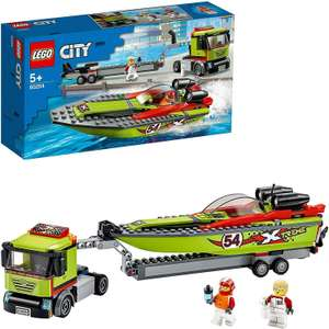LEGO 60254 City Great Vehicles Race Boat Transporter Truck £19.95 delivered at velocityelectronics eBay