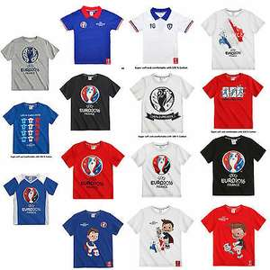 Kids UEFA EURO2016 football Short Sleeve T-Shirt (Ages 4, 5, 6 & 14) 99p delivered @ pigment_smith ebay