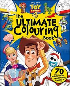 Disney Pixar Toy Story 4 The Ultimate Colouring Book (Mammoth Colouring) Paperback £2.50 Prime / £5.49 Non Prime at Amazon