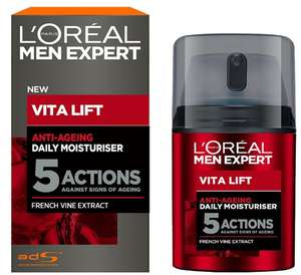 L'Oréal Paris Men Expert Vita Lift 5 Anti Ageing Moisturiser, 50 ml - £6.50 (Prime) / £10.99 (Non Prime) @ Amazon