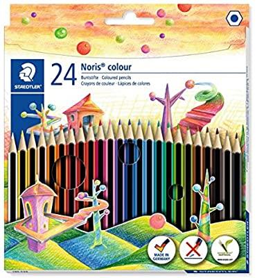 Staedtler 185 C24 Noris Colour Colouring Pencils - 24 pack Assorted Colours £5 Prime (+£4.49 non-prime) @ Amazon