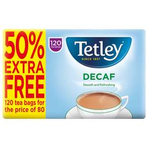 Tetley Decaf 120 teabags £1.74 @ Lidl New hall