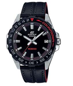 Casio Edifice Black Leather Strap Men's Watch - £55.90 - Sold by Watchnation and Fulfilled by Amazon