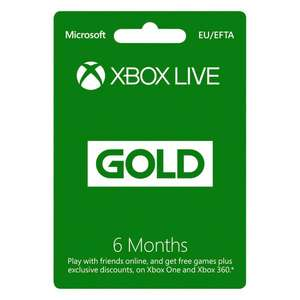 Xbox live 6 months - Digital Download £24.99 @ Smyths toys