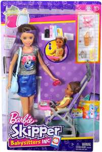 Barbie Babysitter Brunette Doll with Baby and Accessories £15 (Prime) + £4.49 (non Prime) at Amazon