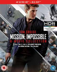 Mission: Impossible - The 6-movie Collection (4K Ultra HD + Blu-ray + Bonus Disc) - £36.79 using code @ Zoom / Ebay